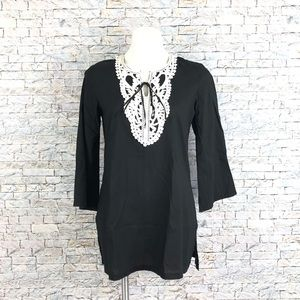 New Charlie Paige Lace Tunic Small
